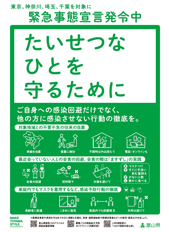 富山 県 の コロナ 情報 【富山コロナ】512~521例目について判明した事をまとめました。保育...