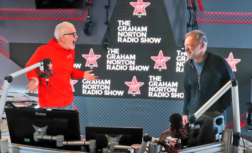 Day off for me today. Perfect excuse to listen to the first of @grahnort new shows on @VirginRadioUK at 9:30. ❤️📻  #TheGrahamNortonRadioShow