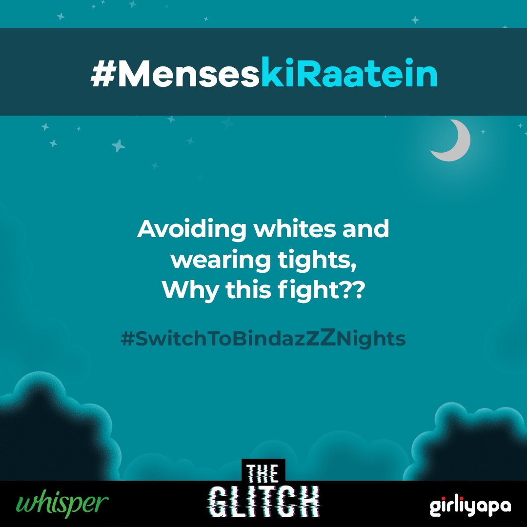 Menses ki raatein are tough. But with @WhisperIndia sleep like a koala, without any worries.  The Glitch all episodes out. Watch here:https://t.co/LXINQ9rmmC #SleepBindazzz #BindazzzNights #SwitchToBindazzz https://t.co/qYgkePyfDY