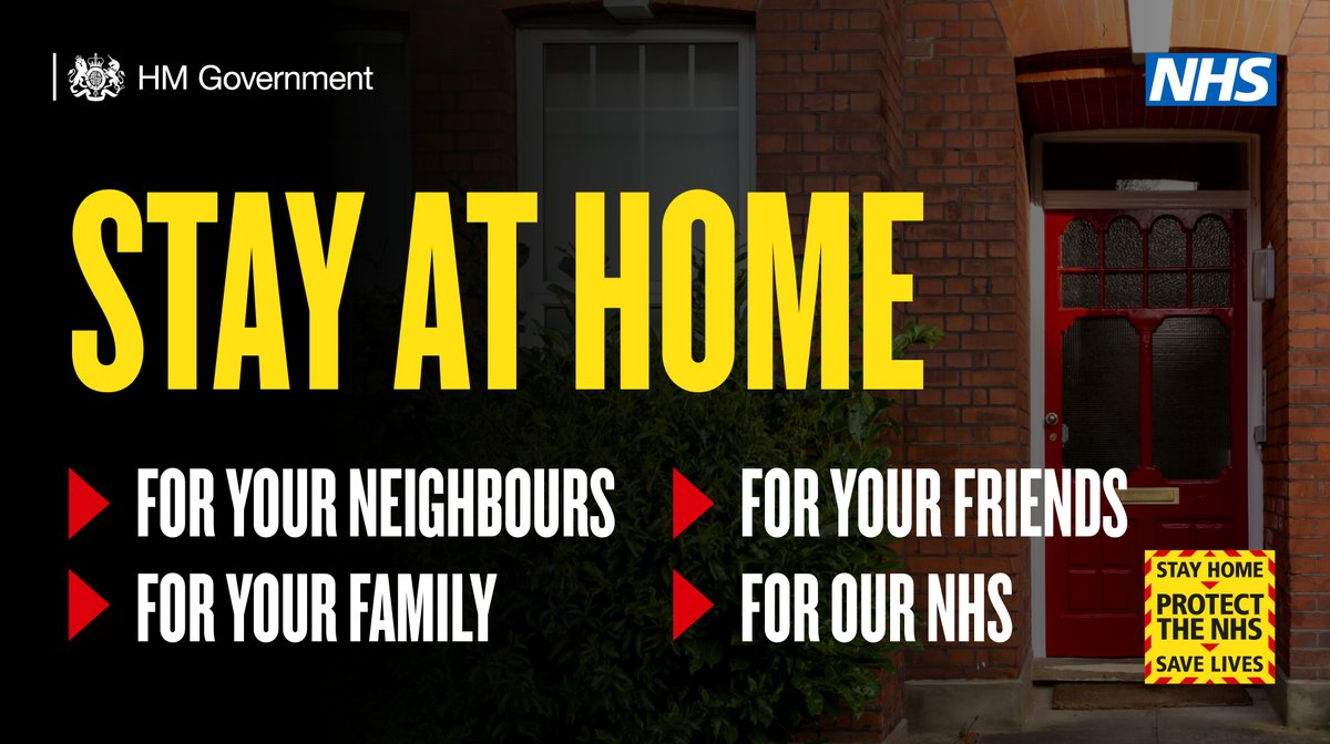 This weekend. For our NHS. Please, stay at home. #StayAtHome