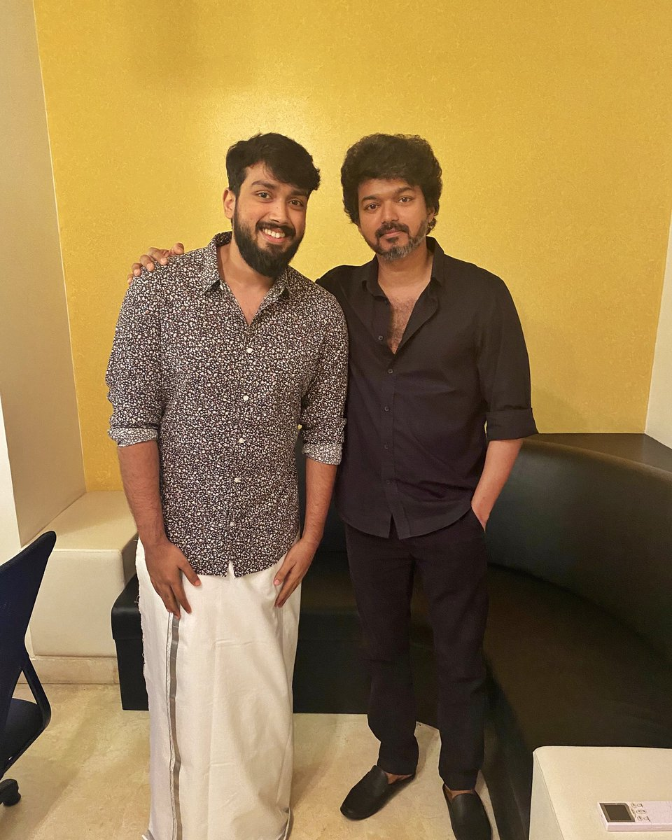 Just when u thought things cudnt get any better ❤️ #master meets #student  Thank you Vijay sir for taking the time and effort, means a lot ❤️🔥 #ThalapathyVijay 🙏