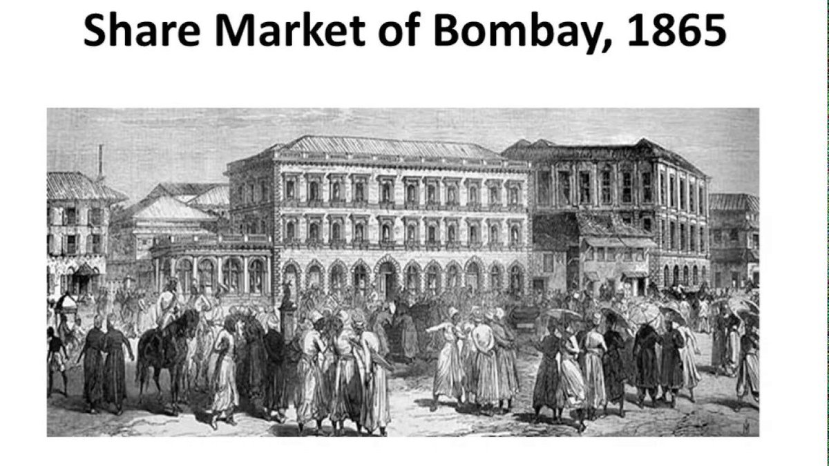 This would eventually become Asia's first stock exchange the Bombay Stock Exchange @BSEIndia