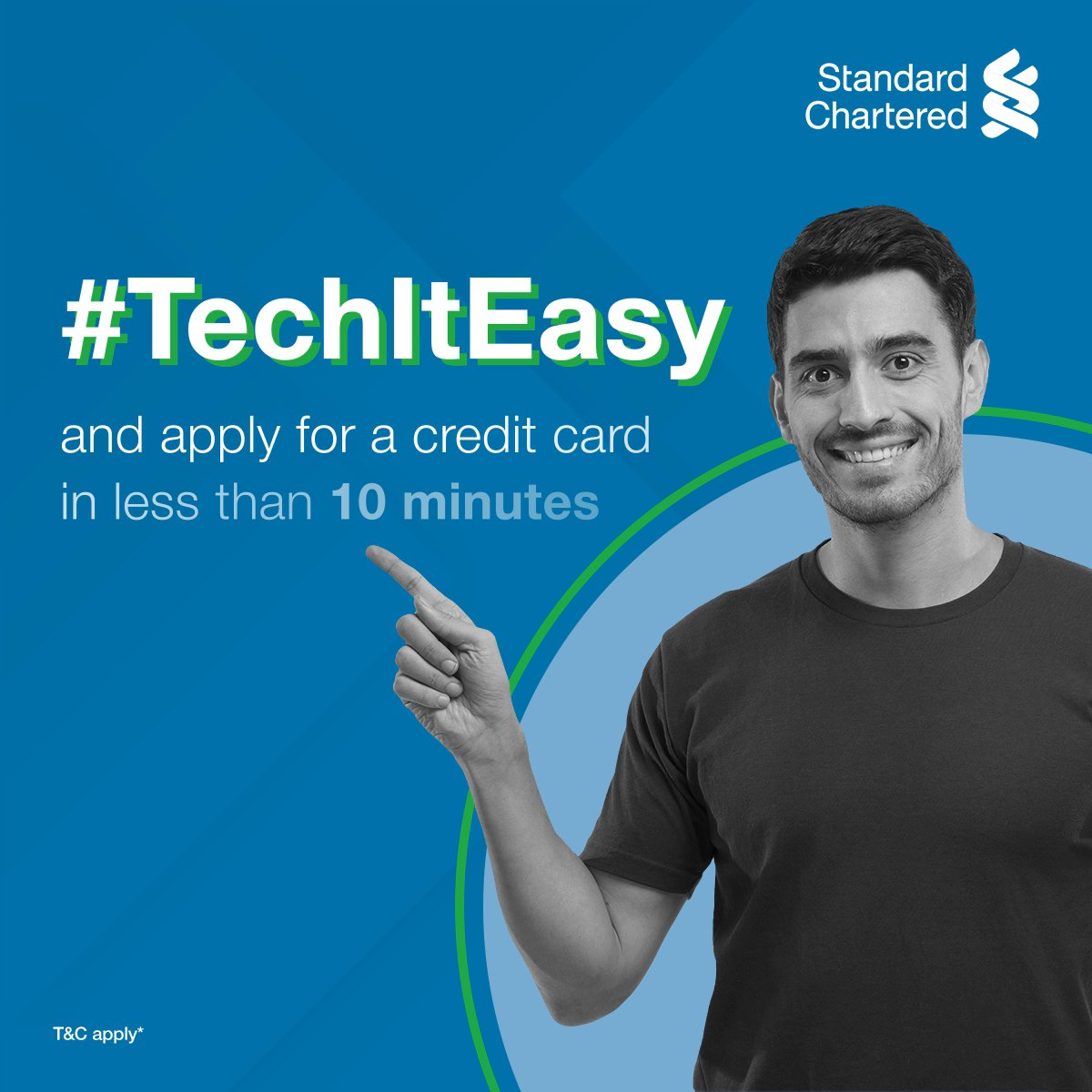 You build your shopping cart, we will add in extra joy! Sit back & #TechItEasy with the Standard Chartered virtual credit card! Simply fill the online form, verify your documents with Video KYC and get your credit card! To know more,