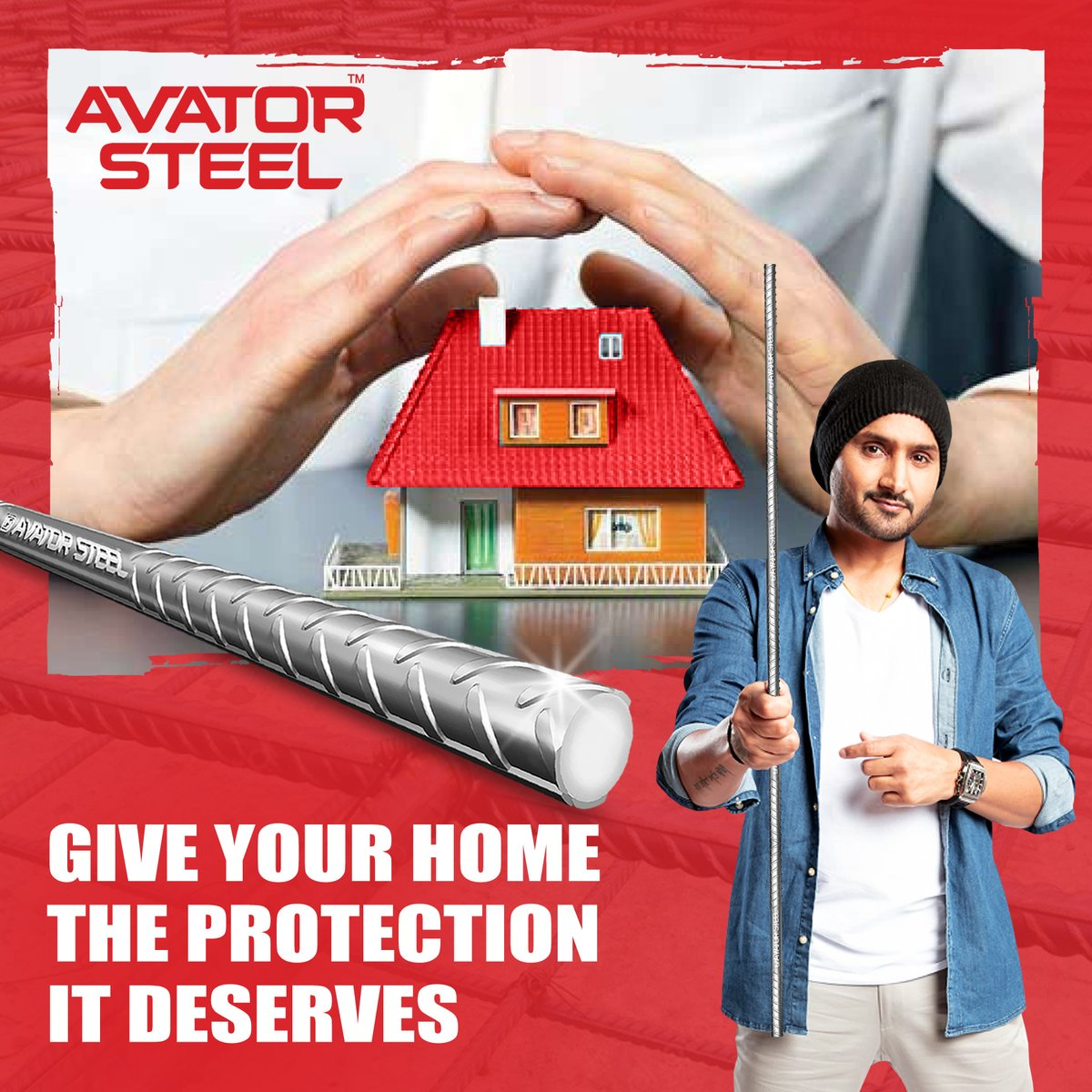Made with the best in class technology, #AvatorSteel TMT bars give your home the ultimate strength to stand strong for many years.   #AvatorSteel #HarbhajanSingh   @harbhajan_singh