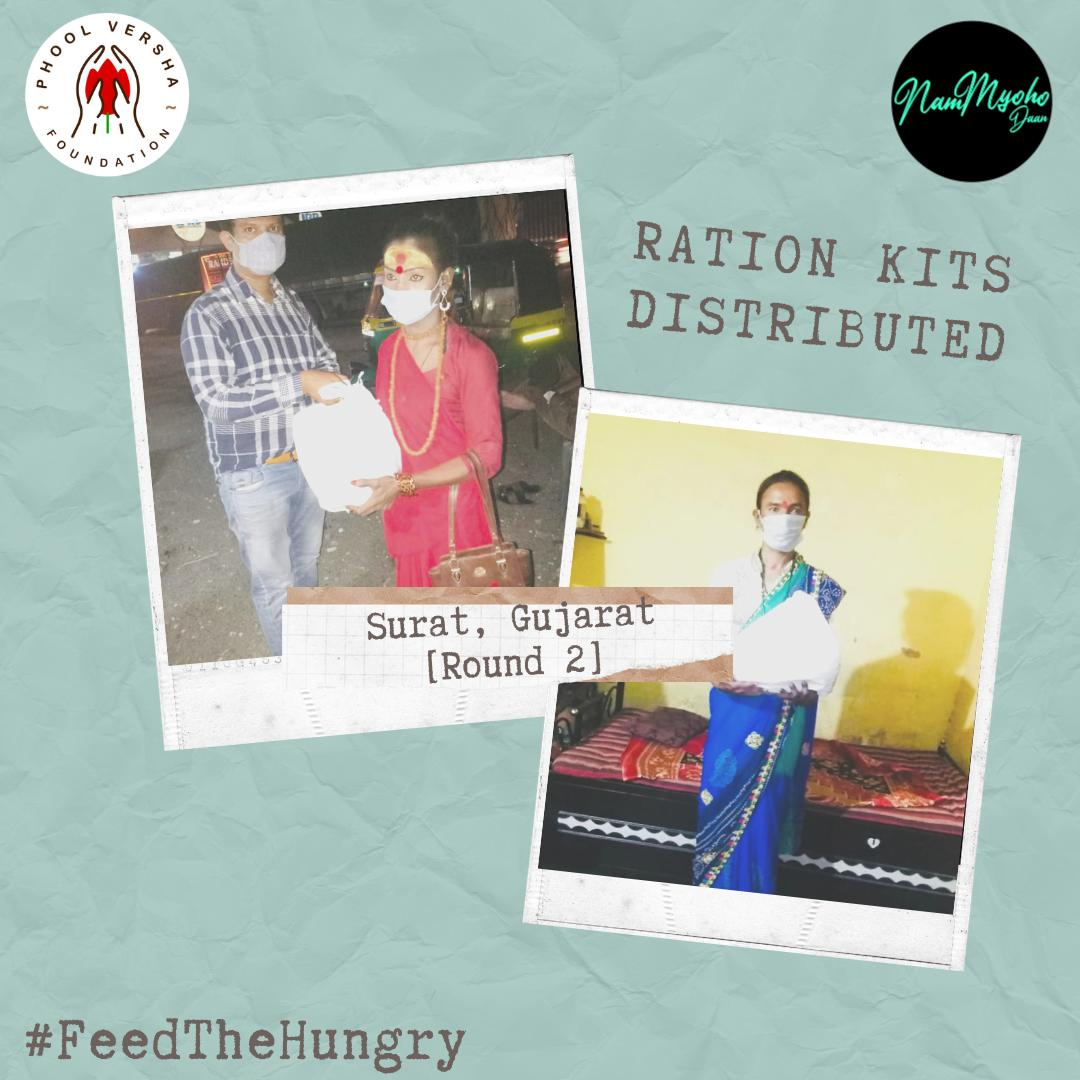 Never get tired of doing little things for others, sometimes those little things occupy the biggest parts of their hearts. Doing little things again in Surat, Gujarat by distributing ration kits. Keep contributing!! Remember, little things create big impact. Donation link in bio!