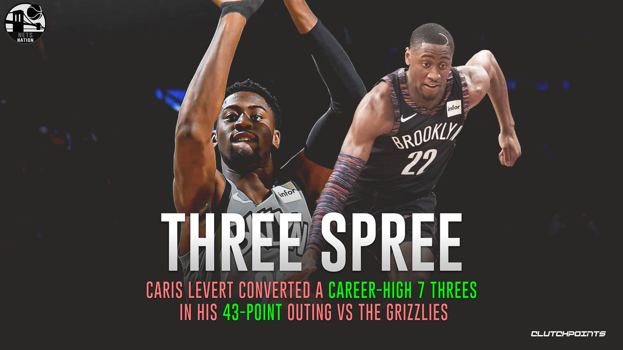 Nets Nation On Twitter Despite The Loss To Those Grizzlies Caris Levert Showed His Elite Shooting Touch