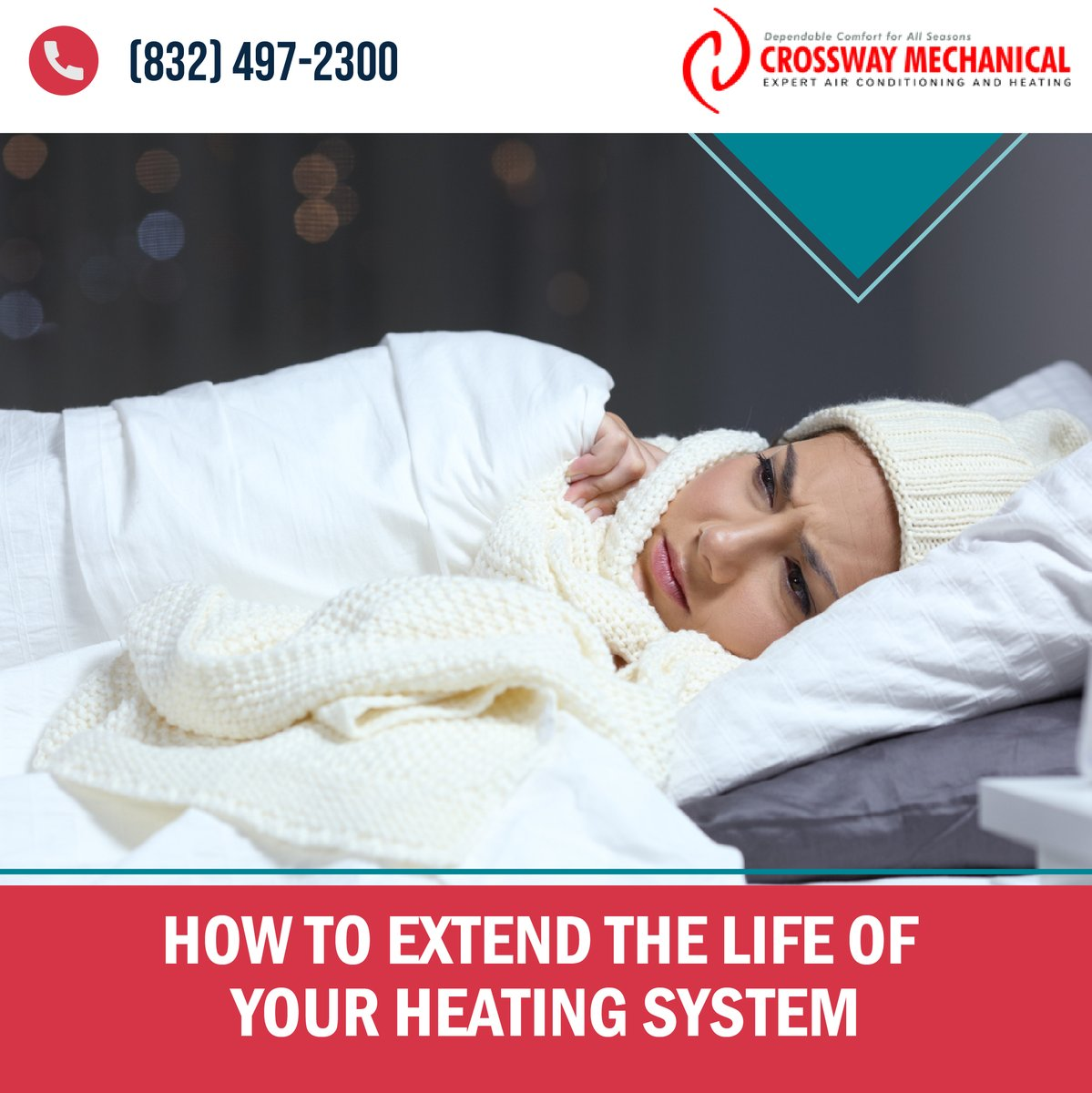 The last thing you want is to come home, on a cold #winter night, to find your 15-year-old #heater on its deathbed. Give our team a call today (832) 501-3568.    #heatpump #indoorairquality #aircomfort #heating #cooling #HVAC #ac #indoorair #cool #heat