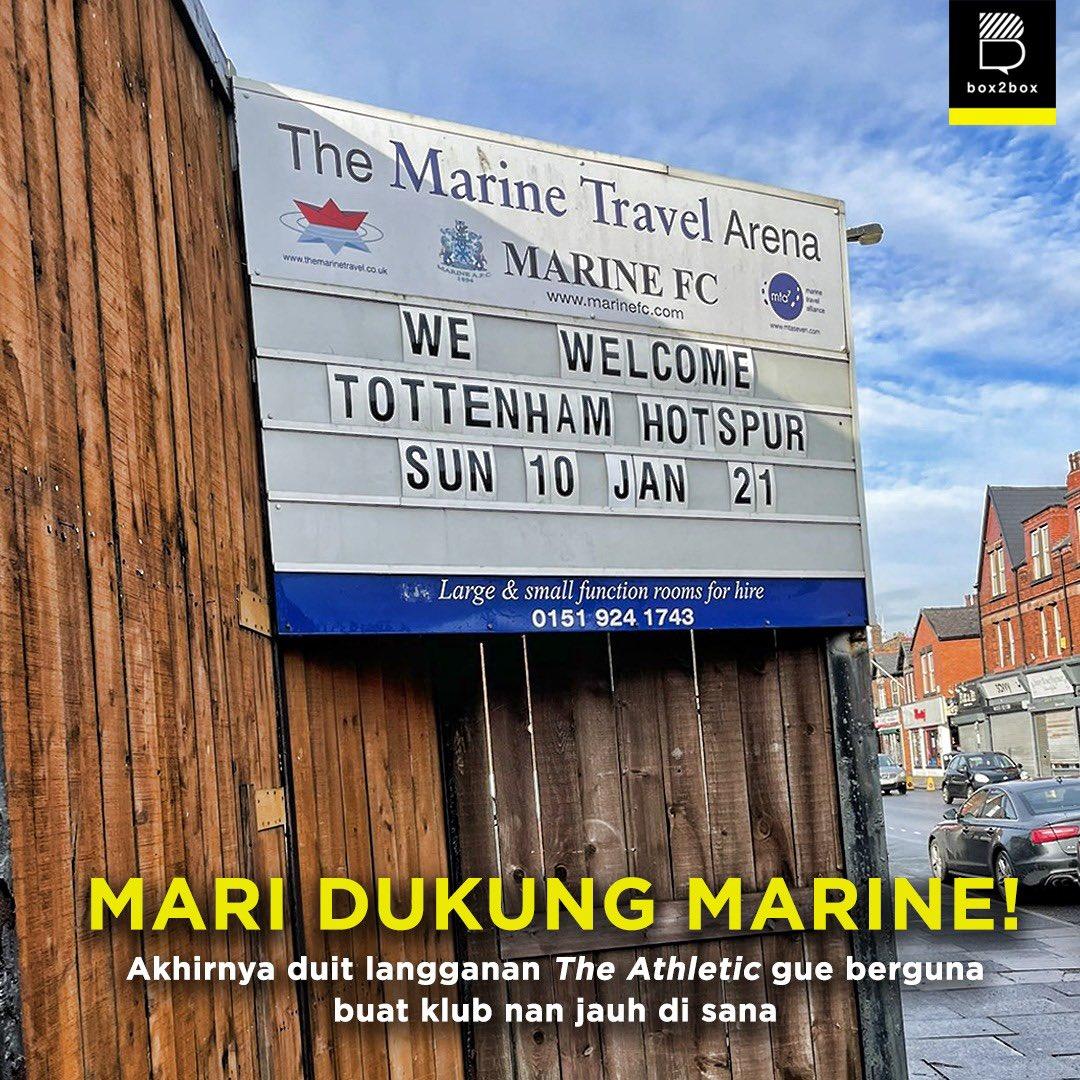 Replying to @Box2BoxBola: Ayo dukung Marine lawan Tottenham! 🔥