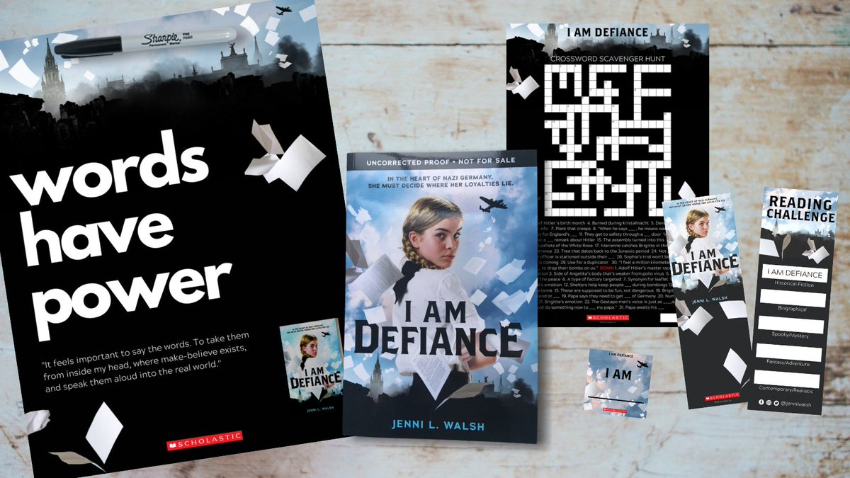Its my birthday but... Id rather give you a gift 😉🥳 A giveaway! RT/follow to enter to win... A galley of #IAmDefiance (releasing 2/2!) A classroom poster personalized to your classroom ~25 bookmarks, crossword scavenger hunts, & stickers! Ends 1/13. US & CA #mglit