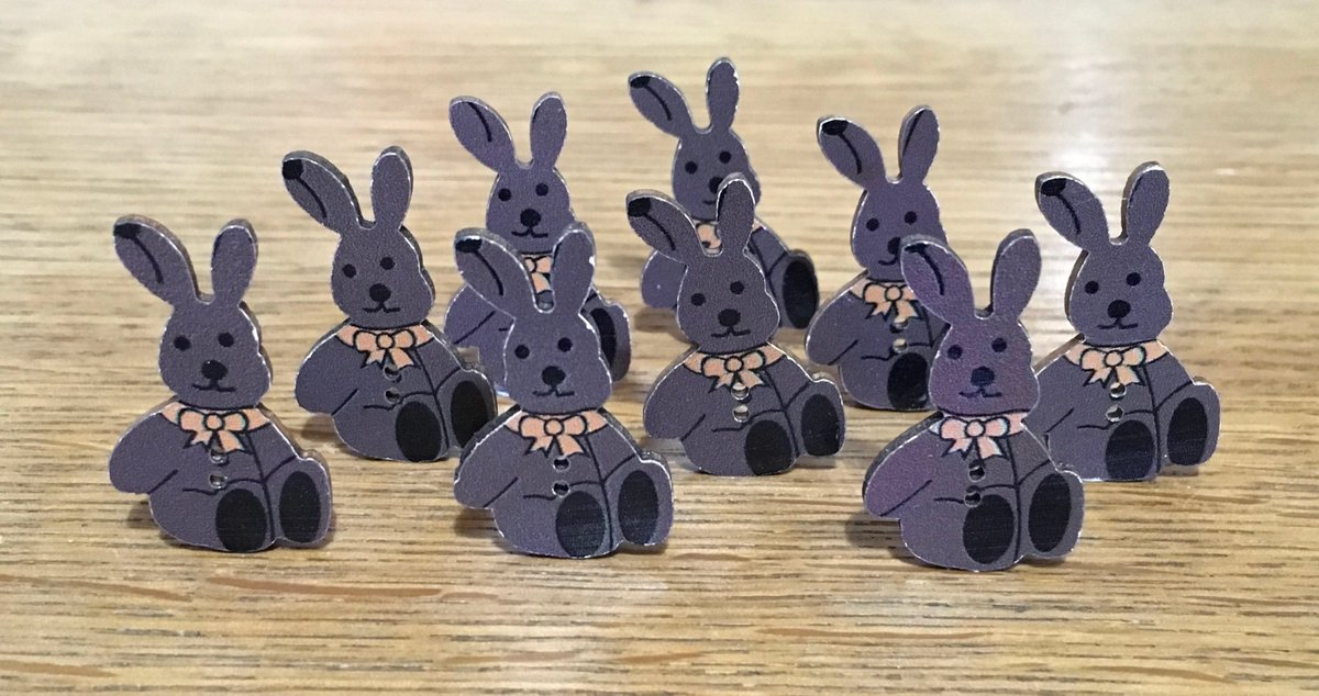🐰 Easter Bunny Buttons: Pack of 28 buttons #easterbunny #Easter #easter #rabbit #bunny #springtime #pets #rabbits #buttons #shopsmall #justacard #etsyuk #etsy  #bunting #eastergift #peterrabbit #bunnyears