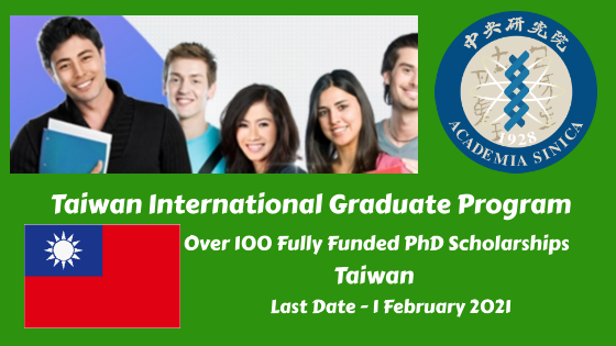 Fully Funded PhD Scholarships in Taiwan's Academic Institution, Taiwan