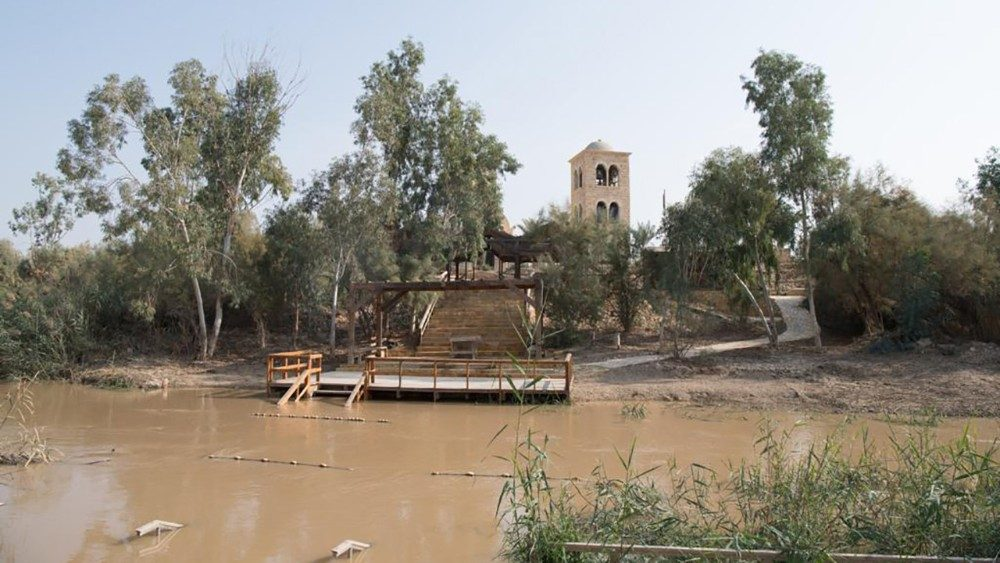 Free of landmines for the first time since 1967, the site of Jesus's baptism again becomes a place of pilgrimage.  #franciscans #holyland #terresainte #ofmca #baptism