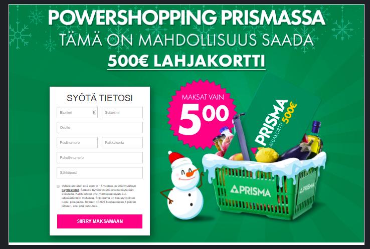 Mybabydelivery - Prisma 500€ - CC (FI) Klikkaa tästä voittamaan 500 € Prisma-lahjakortin! >>  #kenu20 #keskustanuoret #YK75 #YKpäivä #1YearofWeMadeIt #ykkösaamu #UNDay #UN75 #affiliate #affiliateprogram #affiliatelink #talviaika