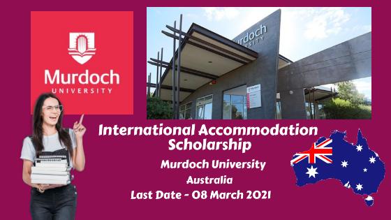 International Accommodation Scholarship, Murdoch University, Australia