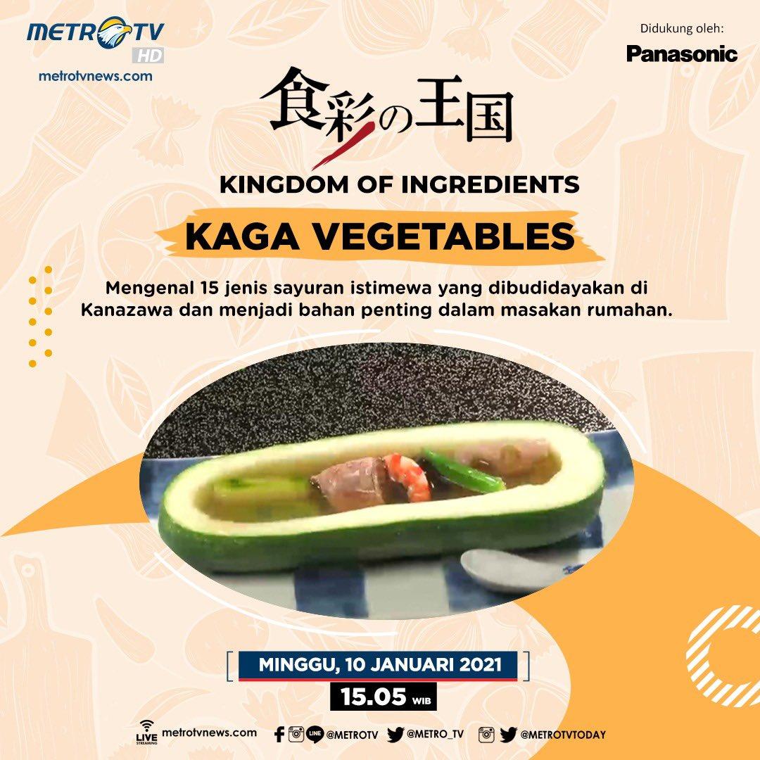 """Di wilayah Kaga, Jepang, terdapat 15 jenis sayuran langka, seperti mentimun besar dan labu merah. Bagaimana cara mengolah sayuran istimewa ini? Saksikan dalam #KingdomOfIngredients episode """"KAGA VEGETABLES"""" hari Minggu (9/1) pukul 15.05 WIB.   #MTVNAD"""