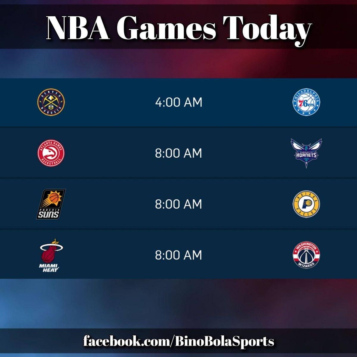 NBA games today! #RegularSeason #Day18 #BinoBolaSports #GamesSchedules (1/2)