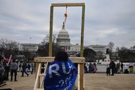 The reason I keep thinking about the gallows erected outside the Capitol is that it appeared to be *an actual gallows*, with a noose and a platform. And I truly wonder if this was intended for something more than just...symbolism.