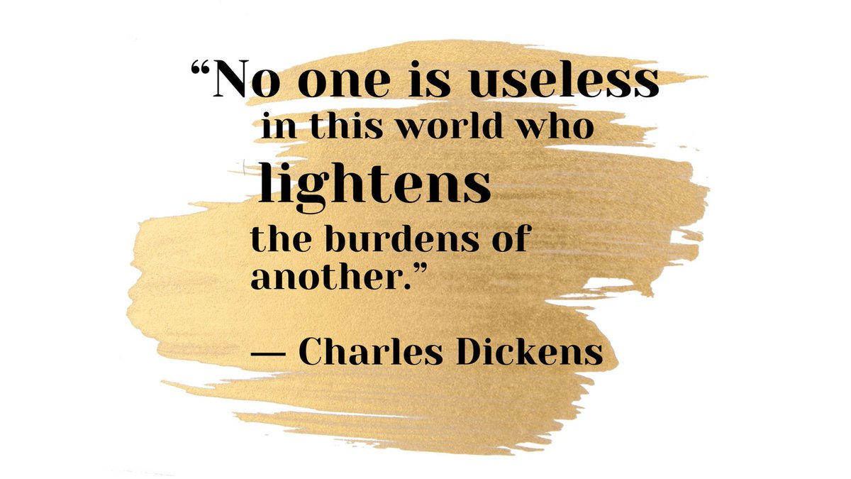 "☀️Quote of the day: ""No one is useless in this world who lightens the burdens of another."" ― Charles Dickens  #Saturdaythoughts #Saturdaymorning #behappy #Saturdayvibe #healthyliving #fab #FabulousLives"