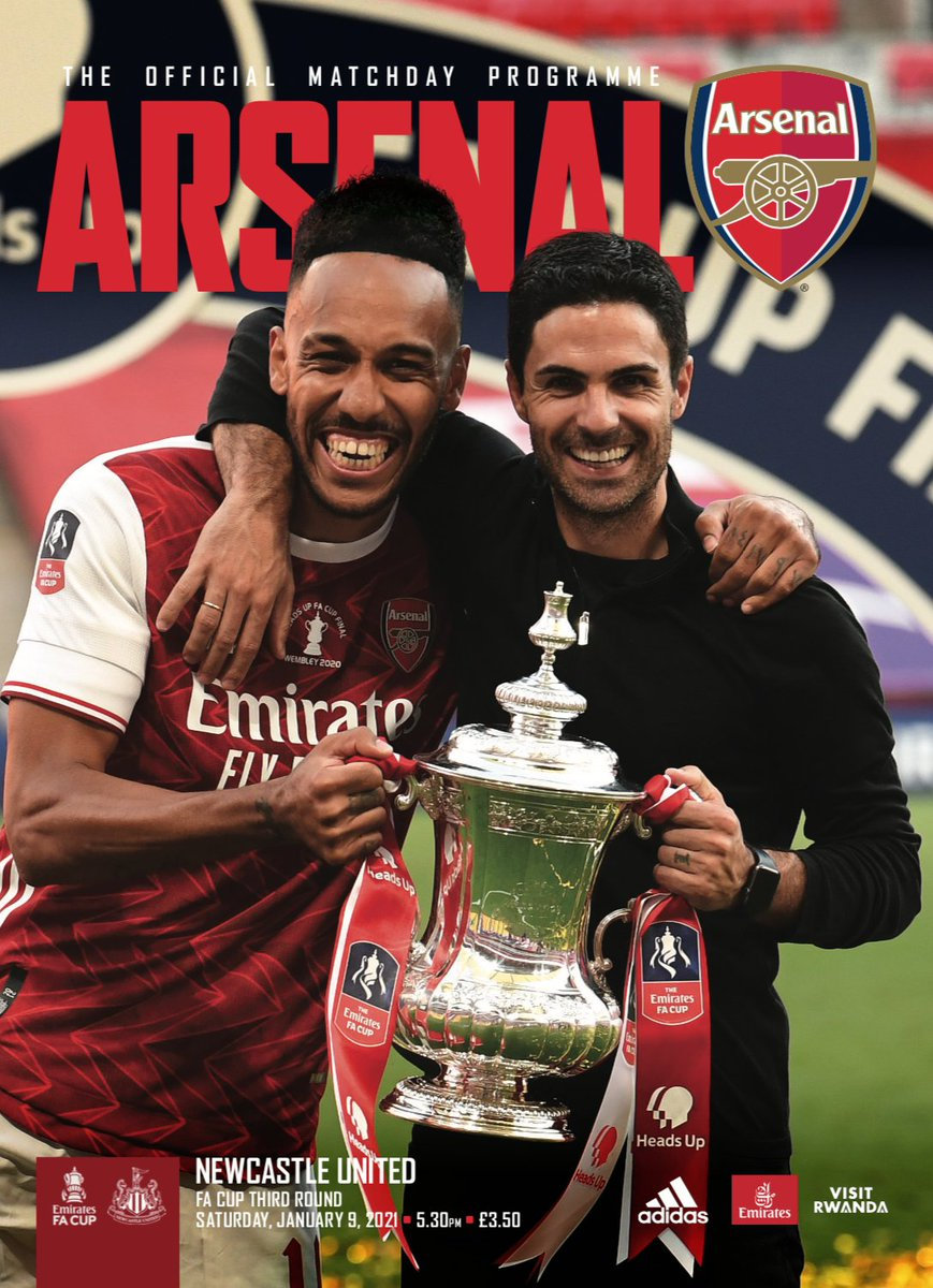 🚨 FREE DIGITAL #ARSNEW PROGRAMME! 🚨    𝟏𝟓 The perfect read as we go for a record-extending 15th  @EmiratesFACup  🔴⚪️ Featuring @m8arteta @Aubameyang7 Alex Runarsson & @BenCottrell8  ⬇️Or order the collectible print prog here⬇️