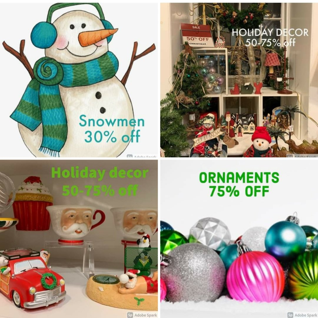 🛍 SALE TODAY 10-5.   We are resetting each of the five rooms at our home decor & furniture location.  Stop in to see newly consigned merchandise & also stock up on HUGE holiday decor saving🎄  Visit our online store at   #consignment #shoplocal #shopsmall