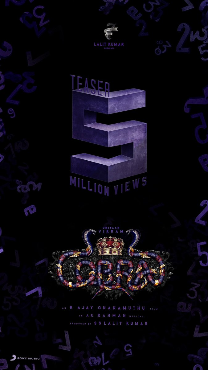 😍😍 #5MViewsForCobraTeaser #Cobra #Cobrateaser #ChiyaanVikram
