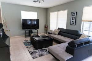 Den with flat screen TV Always is difficult to return back to the #daily routine after spending few #Days at this #property.  #relaxingvacationrental #Trending #SaturdayThoughts #CaturdayEve #SaturdayMorning #satchat #SaturdayVibes #SJ182 #vacations #airbnb