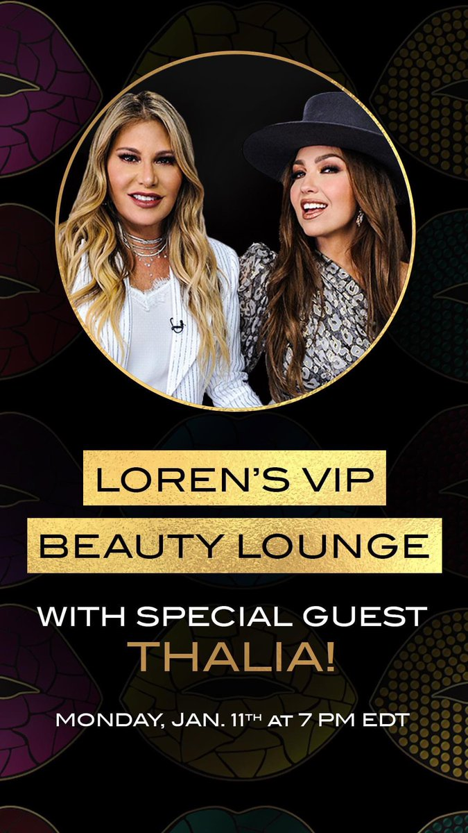 The zoom you don't want to miss with @lorenridinger, and the Queen of Latin pop THALIA. It's a NEW year, which means a new YOU and a fresh opportunity to be and do all you ever imagined.  Drop a 💋 for more details!  #makeuptutorial #thaliaxmotives #VIPBeautyLounge #besos #makeup