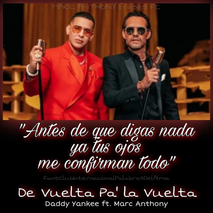 #DeVueltaPaLaVuelta  @marcanthony y @daddyyankee  🔥🔥👑👑🔥🔥👑👑🔥🔥👑👑🔥🔥  #marcanthony #kingofsalsa #daddyyankee #newmusic #quevivalasalsa #billboardcharts #tropicalairplay #latinmusic #puertoricanpride #puertoricanlegends #marcanthonyfrases