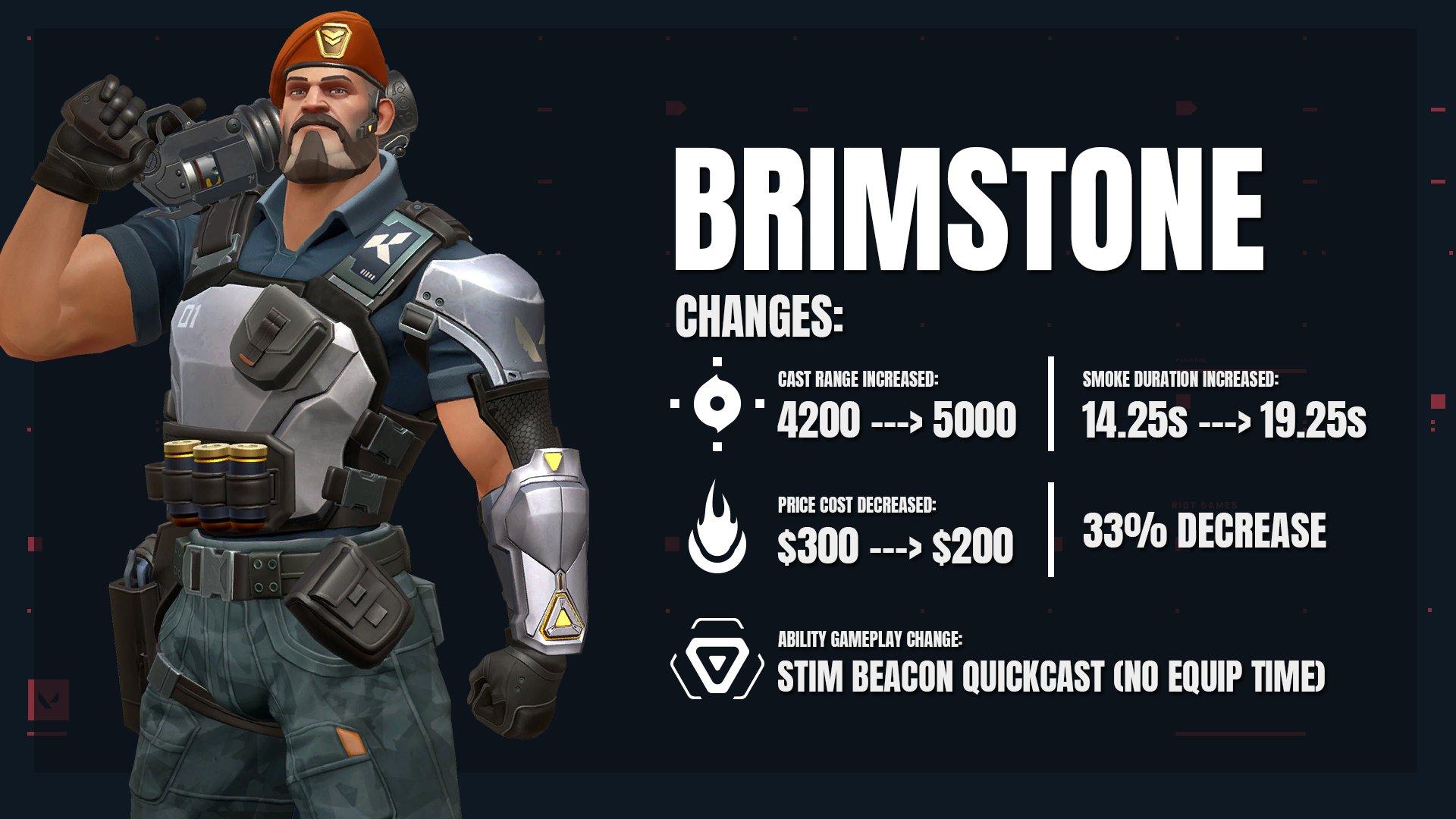 VALORANT Brimstone Episode 2 Change