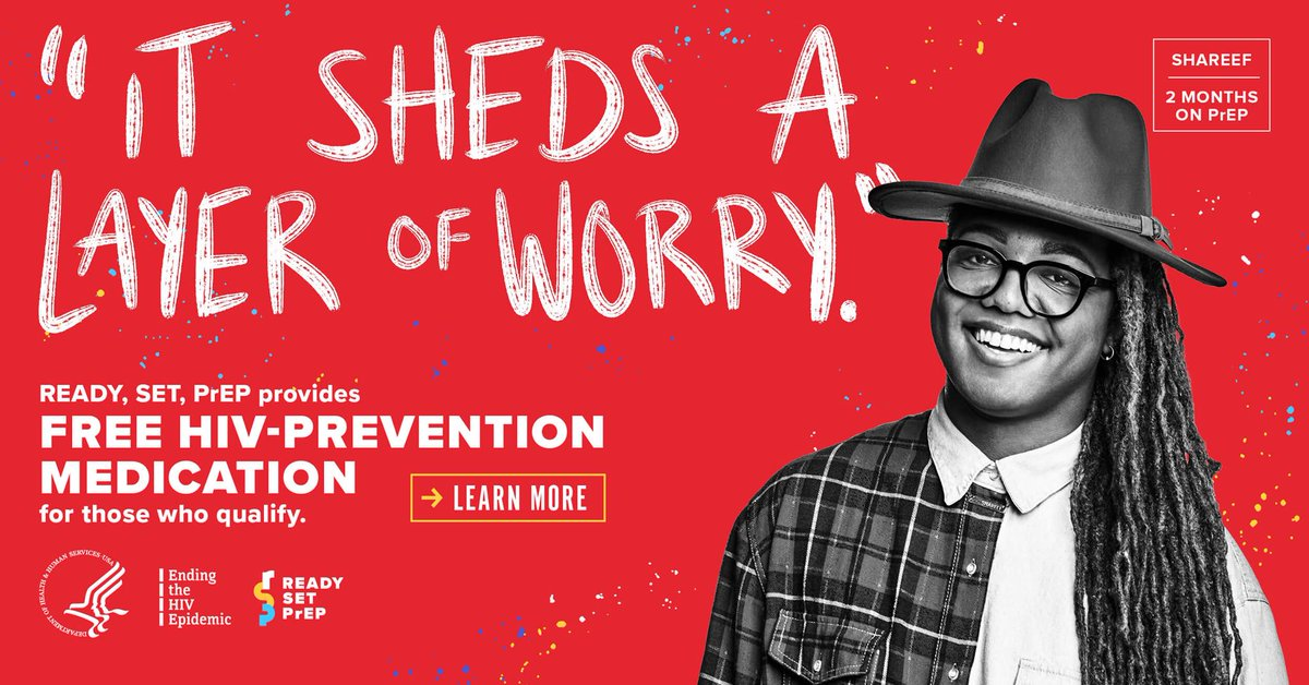 """Shareef takes #PrEP medication because """"It sheds a layer of worry."""" Are you ready to prevent #HIV? Visit  to find out if you qualify for free PrEP through the Ready, Set, PrEP program. #endHIV901 #memphis #HIVawareness #stopHIVtogether #HIVTreatmentWorks"""