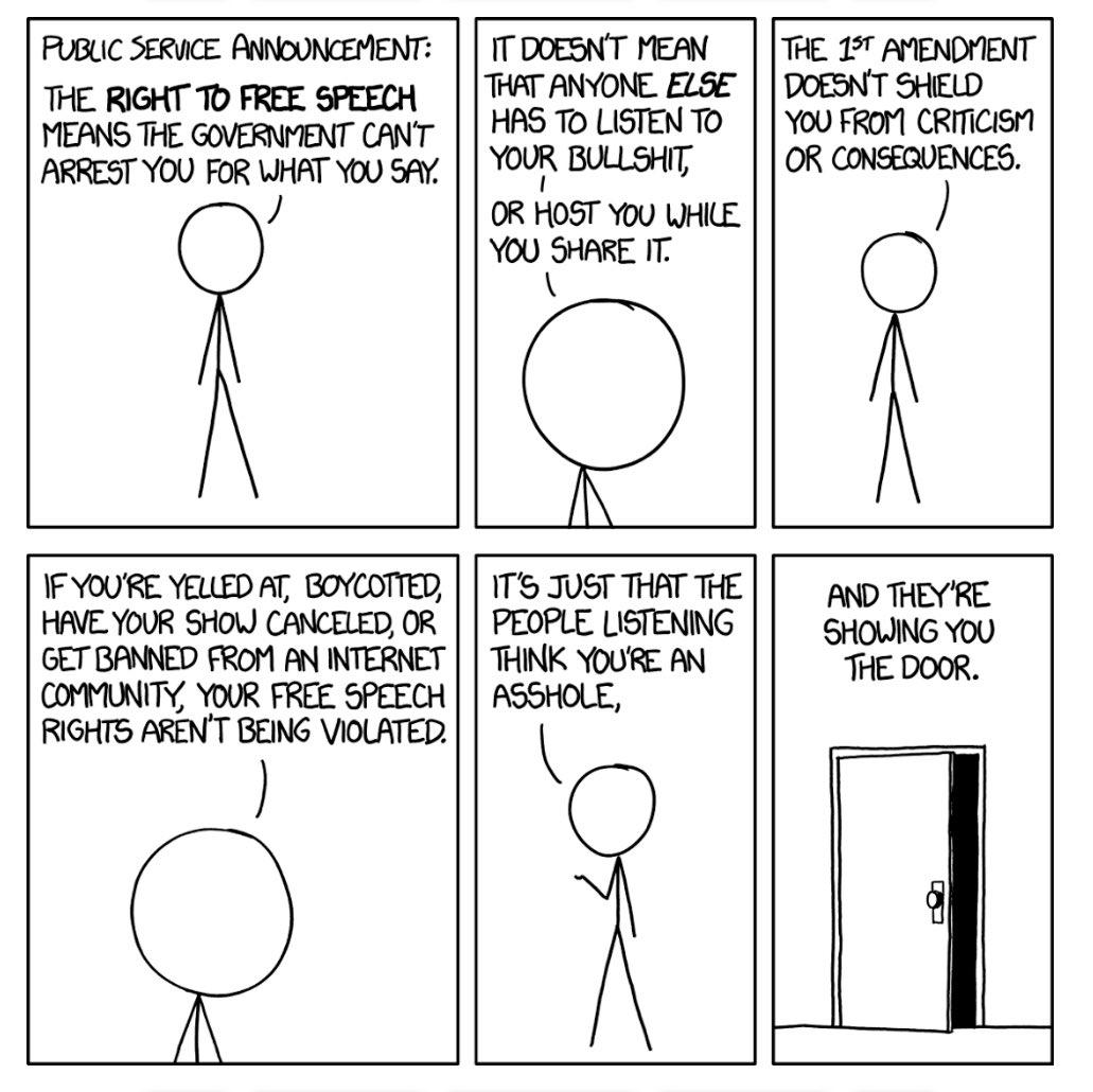 Free Speech Tutorial - Cartoon by