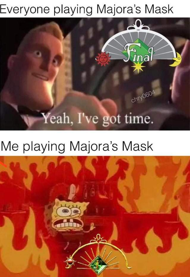 Playing Majora's Mask for the first time 😅