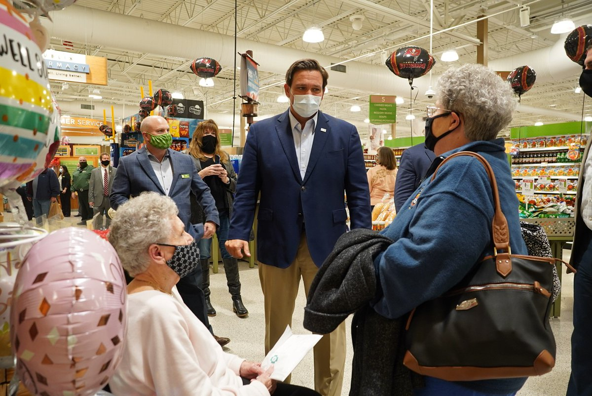Earlier this week I announced a partnership with @Publix to establish COVID-19 vaccination sites in select supermarkets across three counties in FL.   Today I visited several locations in Hernando County where tremendous progress is being made.