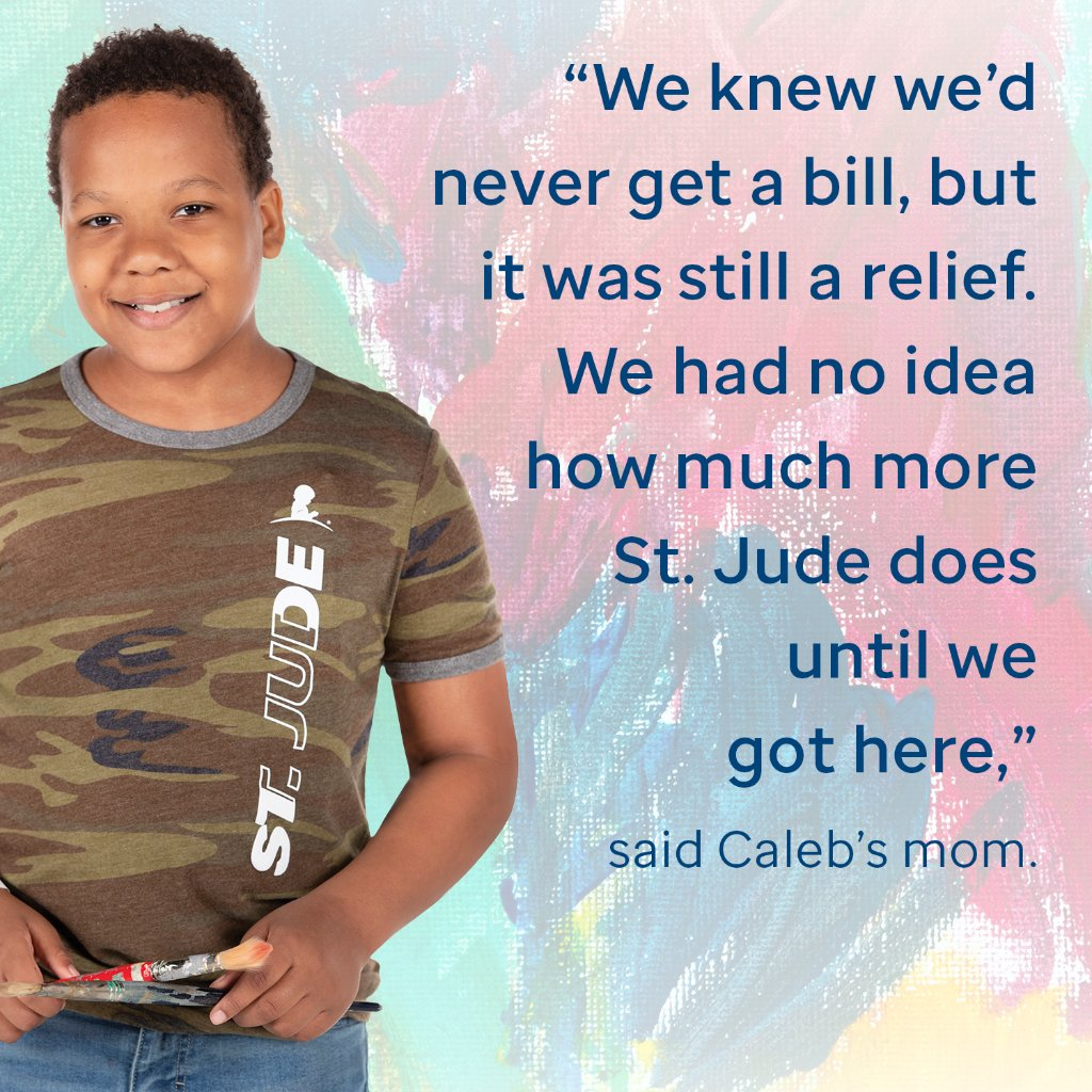 """We knew we'd never get a bill, but it was a relief. We had no idea how much more St. Jude does until we got here,"" said St. Jude patient Caleb's mom."