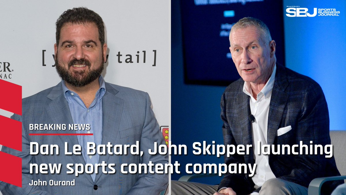 #BREAKING: Former ESPN personality Dan Le Batard and former President @JohnSkipper are launching their own new sports content company in the next few weeks. Skipper will remain part of DAZN Group in his current role (@Ourand_SBJ).  Free to read: https://t.co/JsI82wVogc https://t.co/lw29C3XXq5
