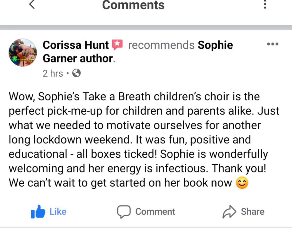 Feedback from today's first FREE Kids Choir session.  All children welcome to join, via  then click on 'groups' for Kids Choir'  #free #kidschoir #lockdownlearning #kidsactivities #Singing #homeschooling #homelearning #takeadeepbreath