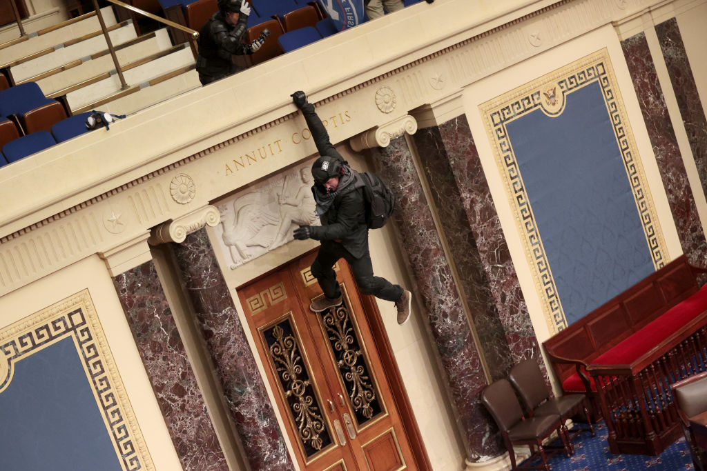 """I GOT CAUGHT UP IN THE MOMENT.""   Idaho man says he was the guy hanging from the balcony of the Senate.  He's now apologizing to the American people and asking for forgiveness.  Story:"