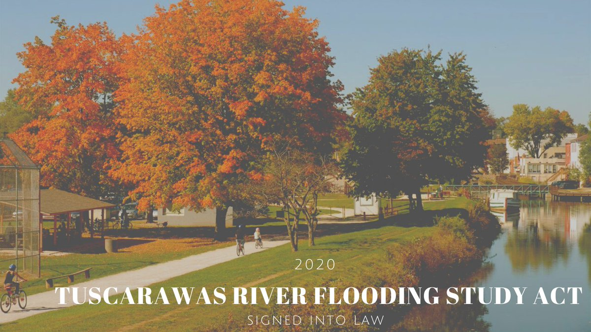 Happy to see the 2020 Water Resources Development Act be signed into law, which included my bill the Tuscarawas River Flooding Study Act.