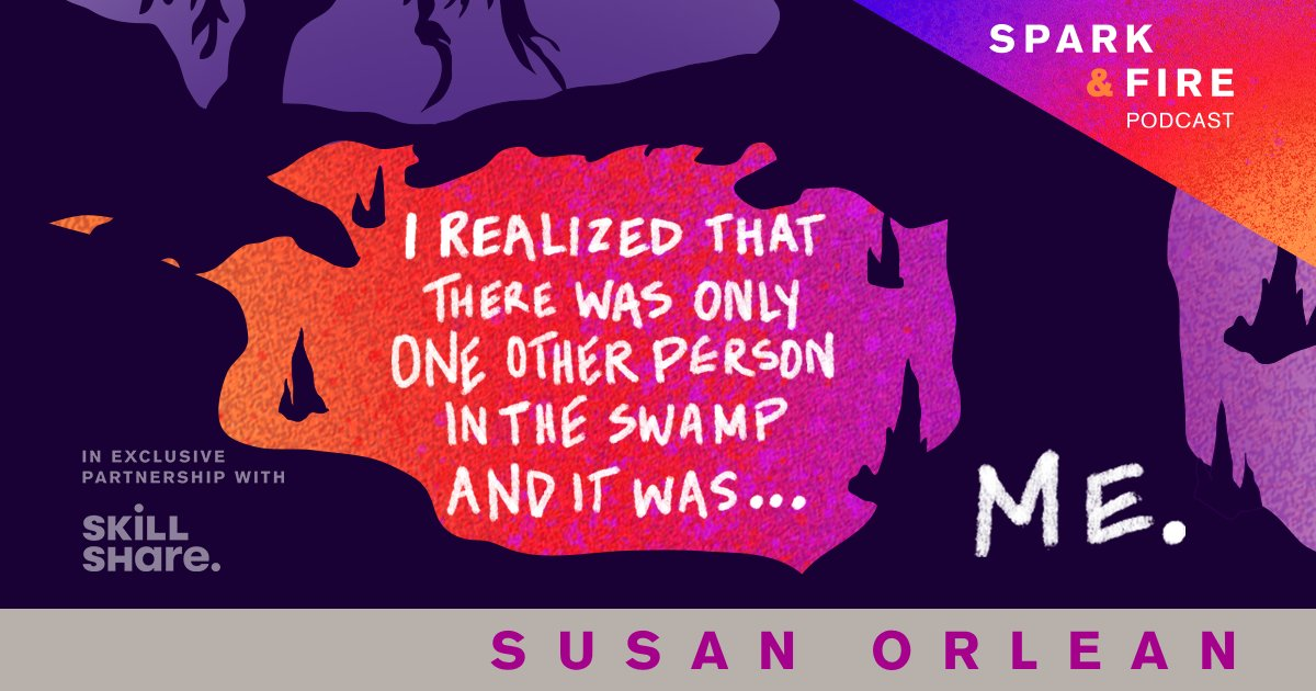 The newest episode of @SparkandFirePod follows author @susanorlean as she pushes past a creative crisis to write the book that in turn inspired the film Adaptation.   Listen to the full episode now: