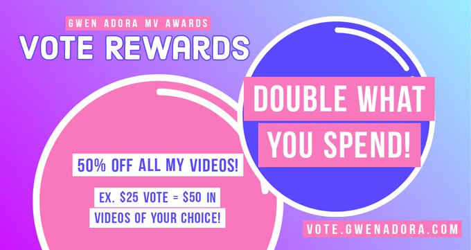 Double what you spend!  Wanting to buy some specific videos of mine? Vote half of what they're worth