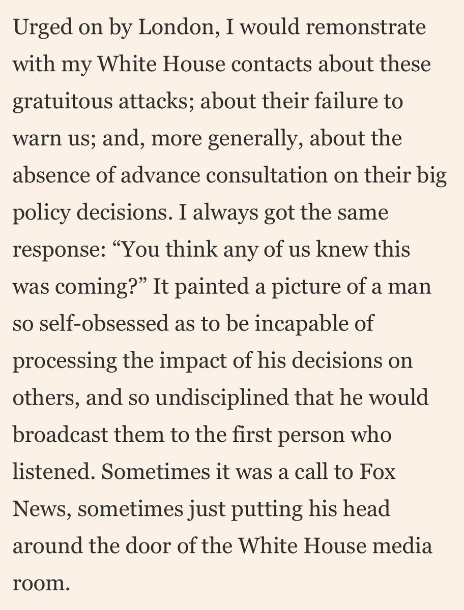 Scathing piece on Trump, from former British ambassador to the US, Kim Darroch. Four years of pure chaos.