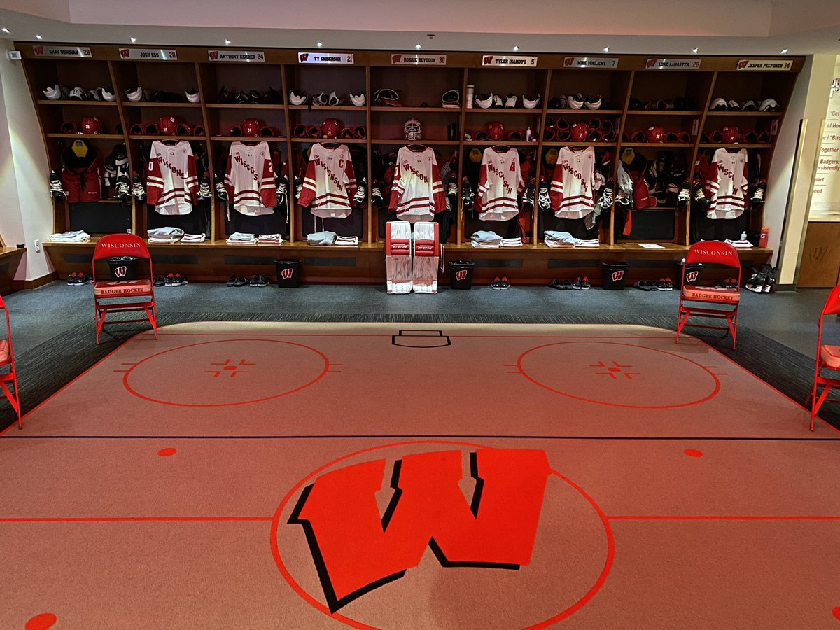 Back at home and ready for Minnesota! @BadgerMHockey #Badgers