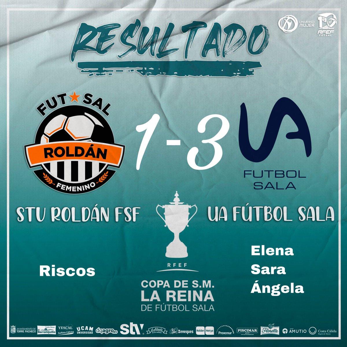 RFEF / Copa de la Reina Futsal  Las goleadoras de @UAfutsafemenino en el partido de 1/8 de final de hoy son @ElenitaGM7, @28sara28 y @_Ang17. ¡¡¡Enhorabuena a todas!!!  #copadelareinafutsal #copadelareina #Futsal  #Entornofutsal5x5   📸 @RoldanFSF