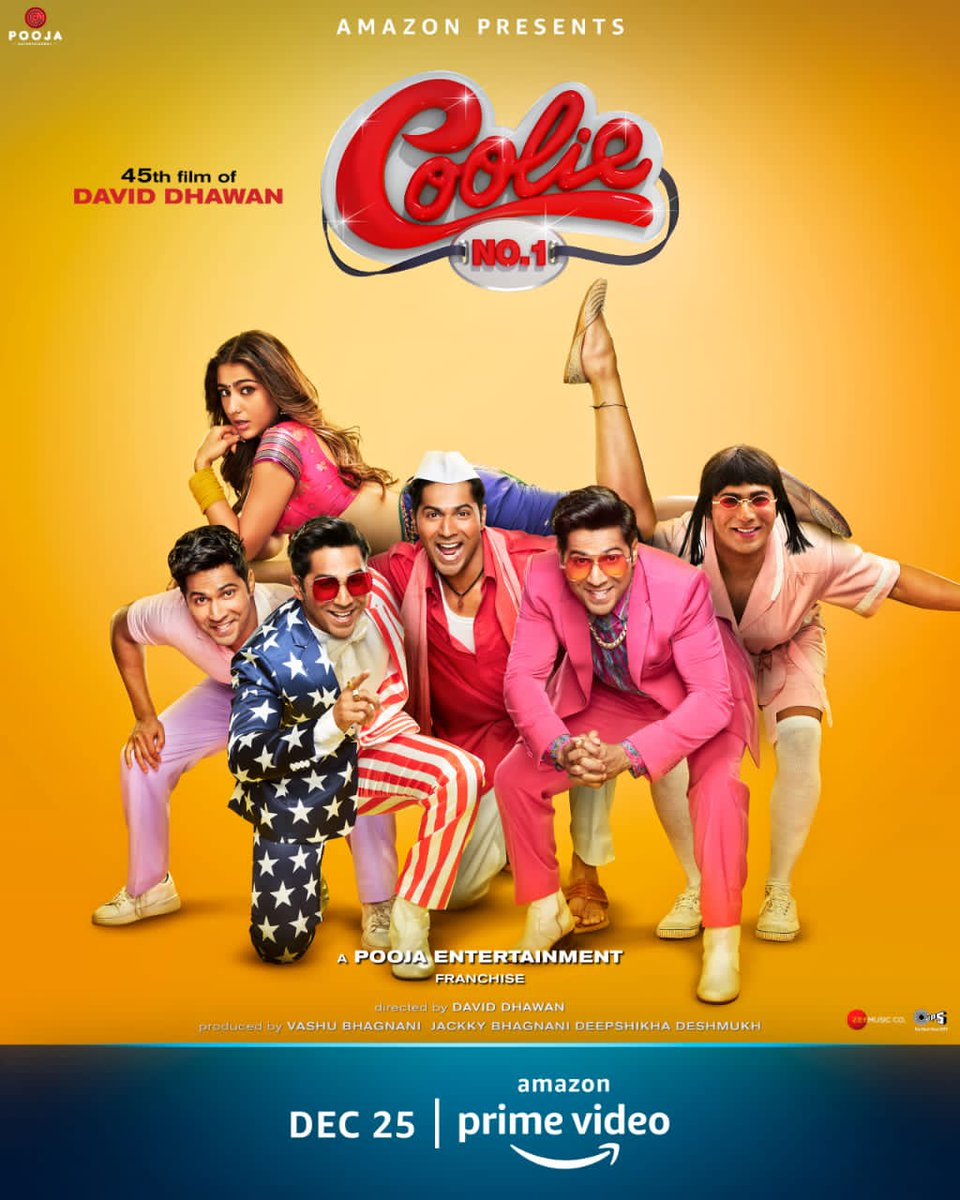 Just watched #CoolieNo1 on @PrimeVideoIN Such a #entertaining movie. 👏👏 @Varun_dvn and #saraalikhan love you guys.What an awesome job