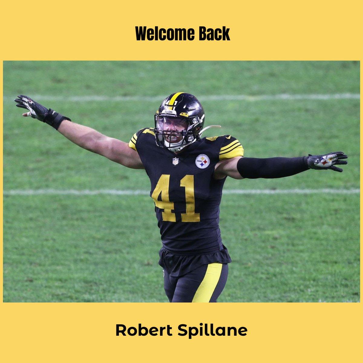 Welcome back Robert Spillane💪🏼 Here We Go Steelers ✨#HereWeGo #Steelers