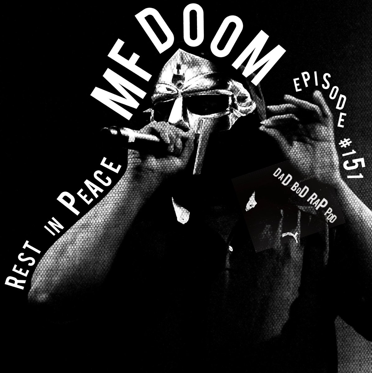 on this week's @DadBodRapPod I join the show to talk about the life and impact of MF DOOM after his passing then hosts @_davidma @natejleblanc and @lifeafterhiphop share their own stories of his music meant to them