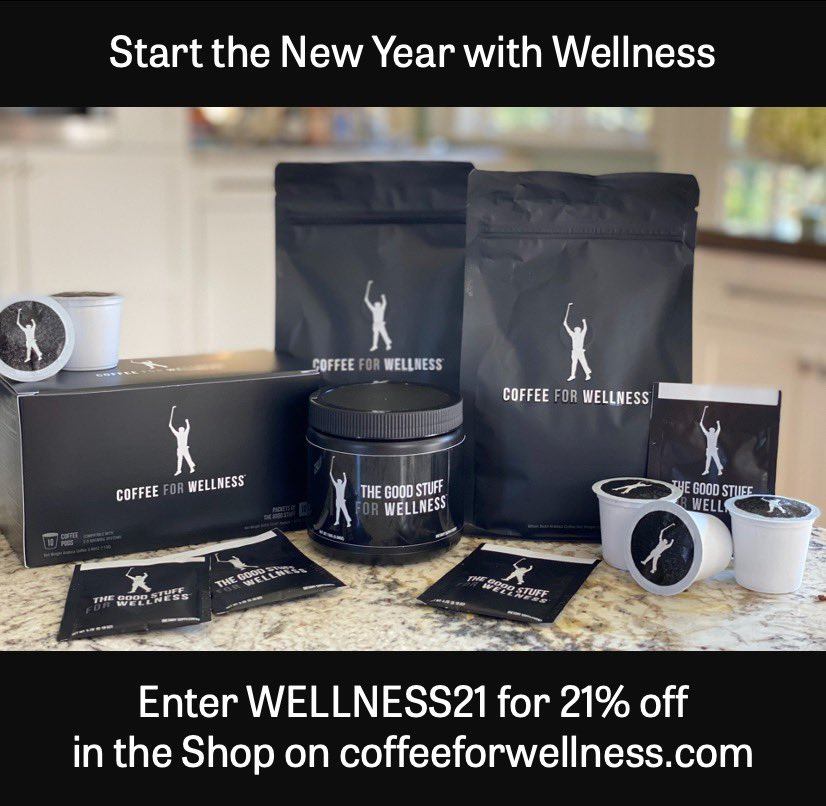 Special offer to help you start the New Year with Wellness. Get 21% off through Wednesday. Offer applies to all items and the first month of subscription memberships.