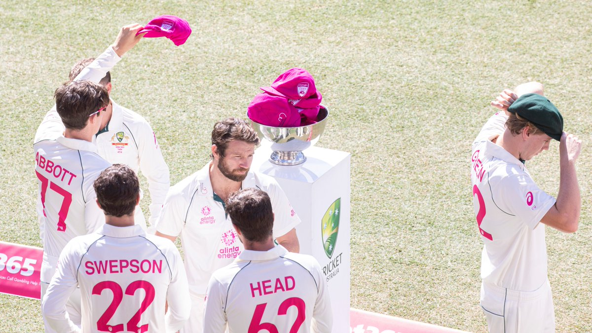 While the competition has been fierce on the pitch things are also heating up in the Pink Test Auction. Bid on a player signed pink baggy, the Outback by Air adventure with @glennmcgrath11 or a shirt signed by @sachin_rt! Closing at 8pm 11th Jant! Visit