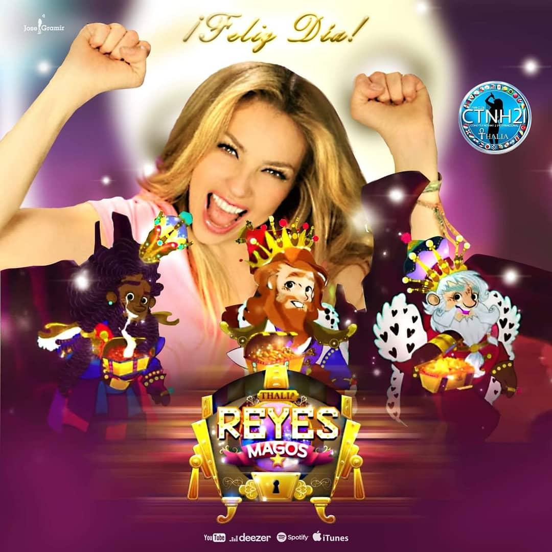 🐠🧙♂️🎧 HOY en este día de REYES regala a los pequeñines #LosReyesMagos canción de @thalia de su nuevo disco infantil #VivaKids2 Ya esta Disponible.  Video en YouTube ➡️     ✔️@iTunes ➡️   ✔️@MixupTeam ➡️