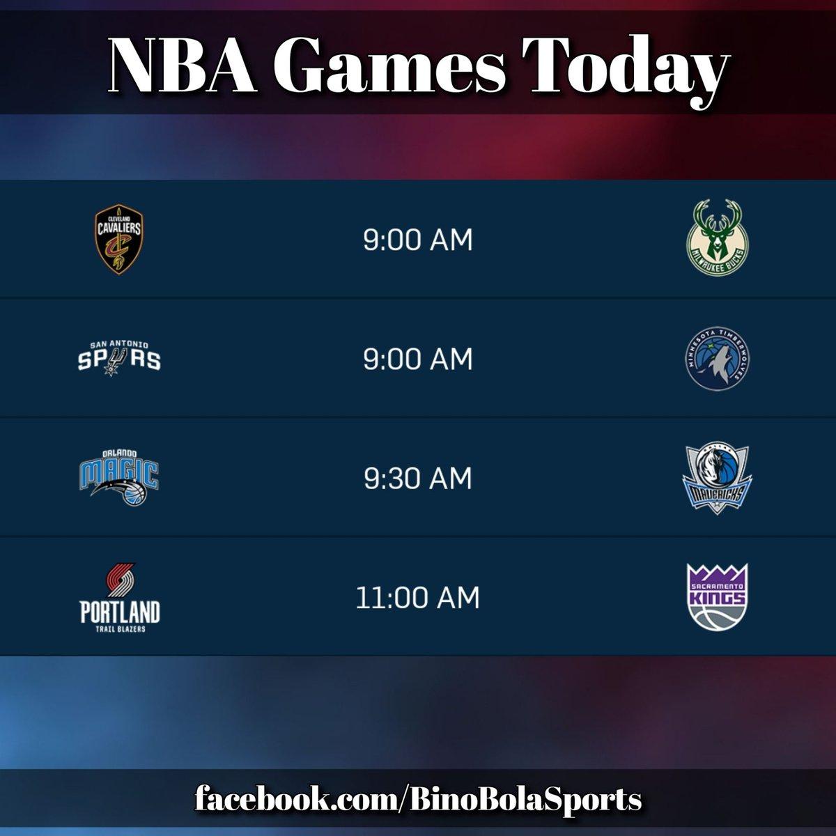 NBA games today! #RegularSeason #Day18 #BinoBolaSports #GamesSchedules (2/2)